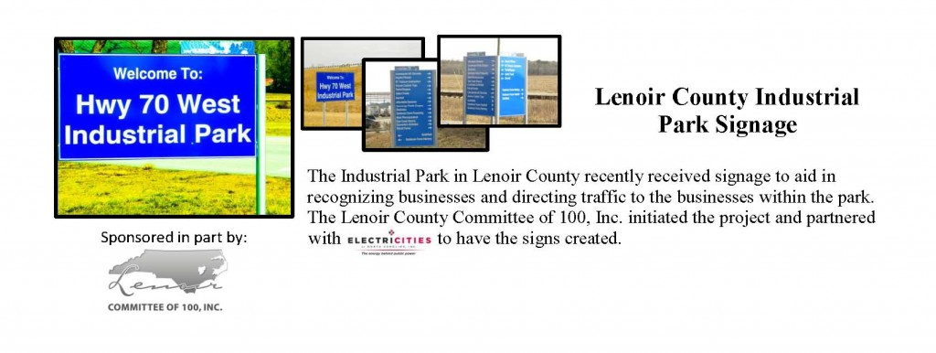 c100 announce LC Industrial Park Signage