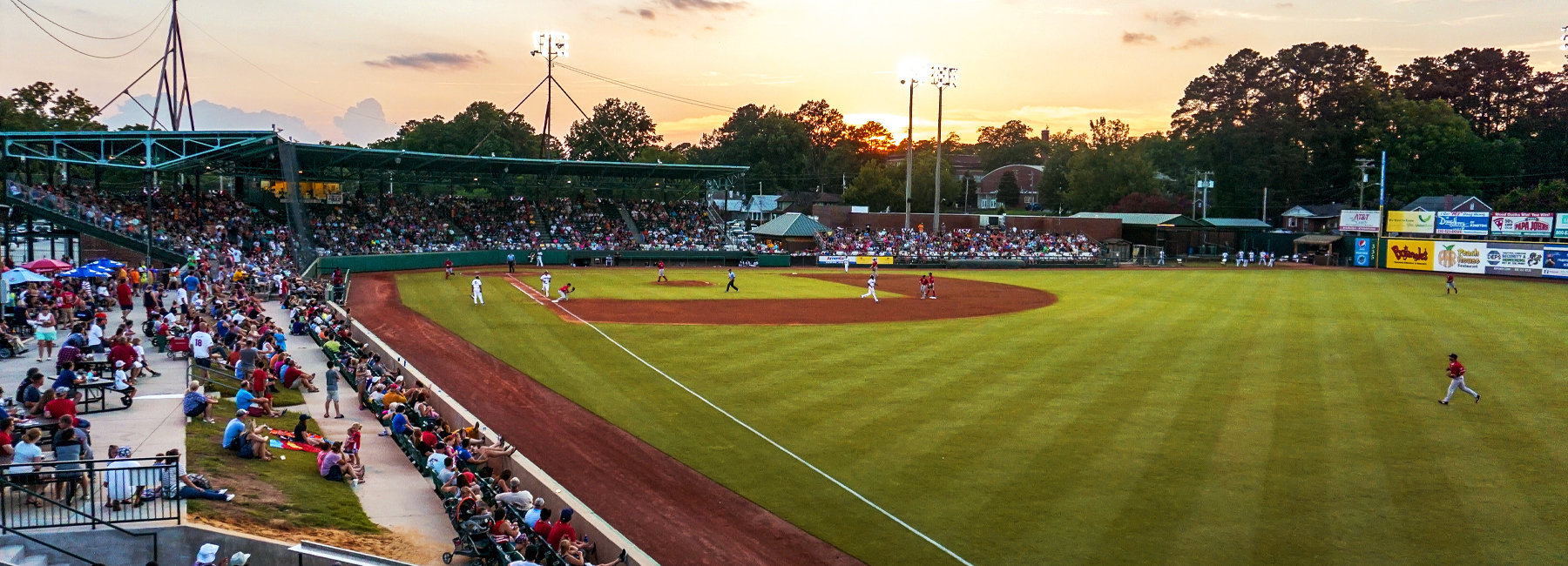 Down East Wood Ducks Fans Enjoy A Game At Grainger Stadium In Kinston North Carolina